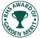 The Royal Horticultural Society's Award of Garden Merit (AGM) helps gardeners make informed choices about plants. This award indicates that the plant is recommended by the RHS; awards are usually given after a period of trial.